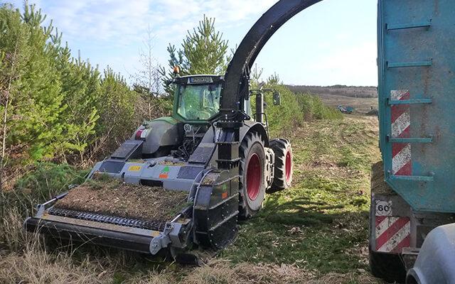 Maszyna do zbiórki biomasy / bioharvester